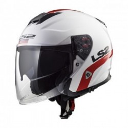 Casco LS2 INFINITY OF521 SMART BLANCO ROJO AZUL