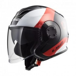 Casco LS2 VERSO OF570 TECHNIK NEGRO BLANCO ROJO