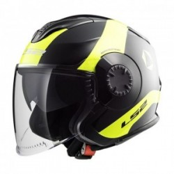 Casco LS2 VERSO OF570 TECHNIK NEGRO AMARILLO