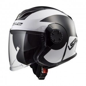 Casco LS2 VERSO OF570 MOBILE NEGRO BLANCO