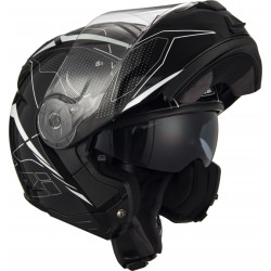 Casco Modular NZI COMBI 2 DUO SWORD BLACK AND WHITE