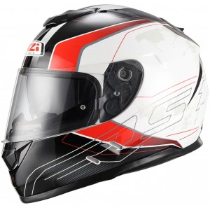Casco NZI SYMBIO DUO ARESONE WHITE RED