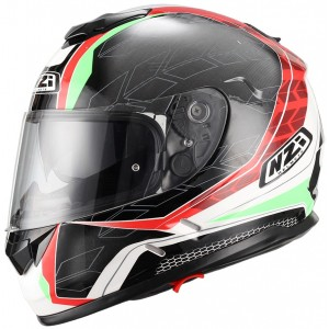 Casco NZI SYMBIO DUO DART RED GREEN