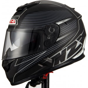 Casco NZI SYMBIO 2 DUO FIBER VOLT BLACK WHITE MATT