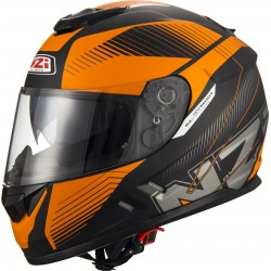 Casco NZI SYMBIO 2 DUO INDY BLACK ORANGE MATT