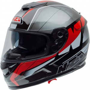 Casco NZI SYMBIO 2 DUO MEGA BLACK RED
