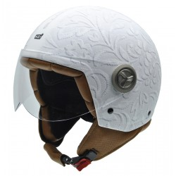 Casco NZI ZETA BROCADO WHITE