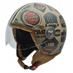 Casco NZI ZETA RETROLABELS