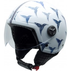 Casco NZI Zeta USHUAIA BLUE BIRD