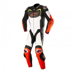 Mono Alpinestars GP Pro Tech Air Negro Blanco Rojo Amarillo 1 pieza