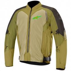 Chaqueta Alpinestars Wake Air Negro - Verde Oliva - Verde Fluor