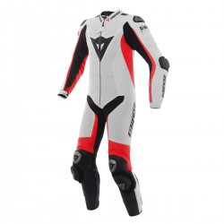 Mono Dainese D-AIR RACING MISANO ESTIVA 1P White/Fluo-Red/Black