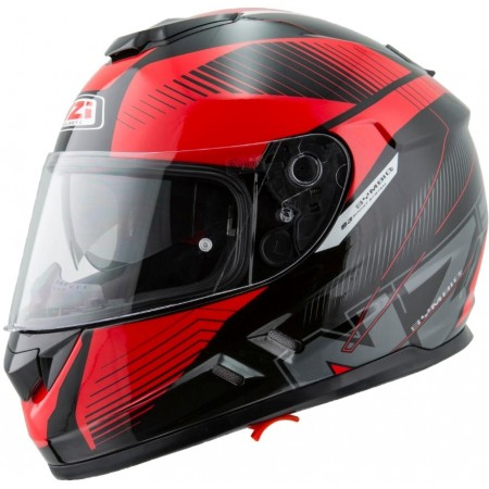 Casco NZI SYMBIO 2 DUOINDY BLACK RED