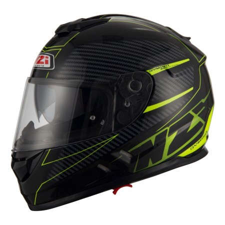 Casco NZI SYMBIO 2 DUO FIBER VOLT BLACK YELLOW MATT
