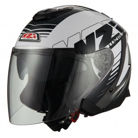 Casco NZI AVENEW 2 DUO PROVA WHITE BLACK