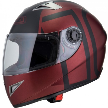 Casco NZI VITAL GRAPHICS ZEHN BURGUNDY