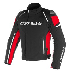 Chaqueta Dainese Racing 3 D-Dry Jacket Negro / Negro / Rojo