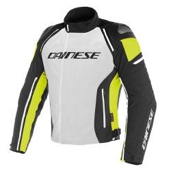 Chaqueta Dainese Racing 3 D-Dry Jacket Gris/ Negro/ Amarillo Fluor