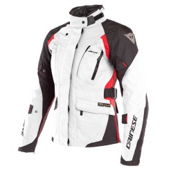 Chaqueta Dainese Mujer X-Tourer D-Dry Gris / Negro / Rojo