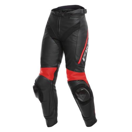 Pantalón Piel Mujer Dainese Delta 3 Negro/Negro/Rojo