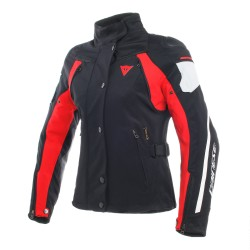 Chaqueta Dainese Mujer Rain Master D-Dry Negro/Gris/Rojo