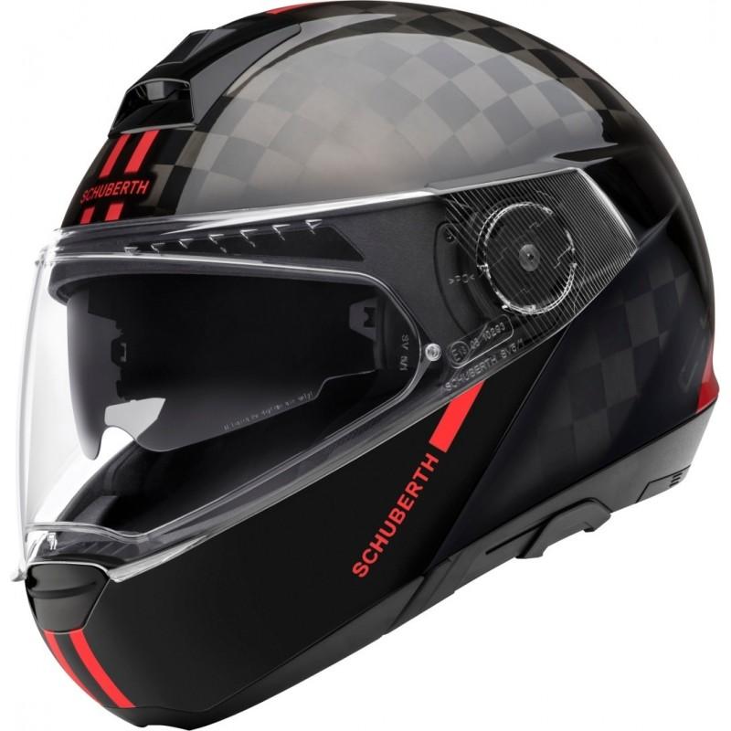 Schuberth C4 Pro Carbon Fusion Rojo