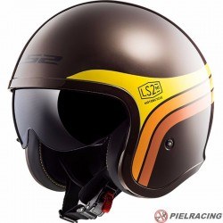 Casco LS2 SPITFIRE OF599 SUNRISE Marron Naranja Amarillo